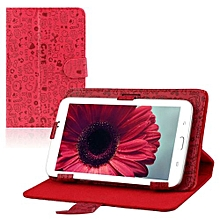 Case 7 Inch Universal Leather Stand Case Cover For Android Tablet PC Red-AS Show