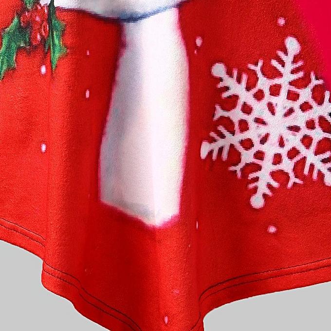 fb5803b90f699e ... Fashion Leadsmart Plus Size Santa Claus Print Lace Panel Christmas Tee  ...