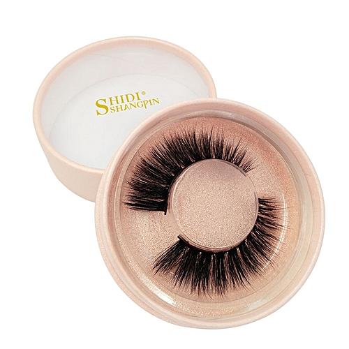 SHIDISHANGPIN 1 Pair false eyelashes makeup natural long 3d mink real-like  lashes fake eyelashes makeup lashes(gold pink)