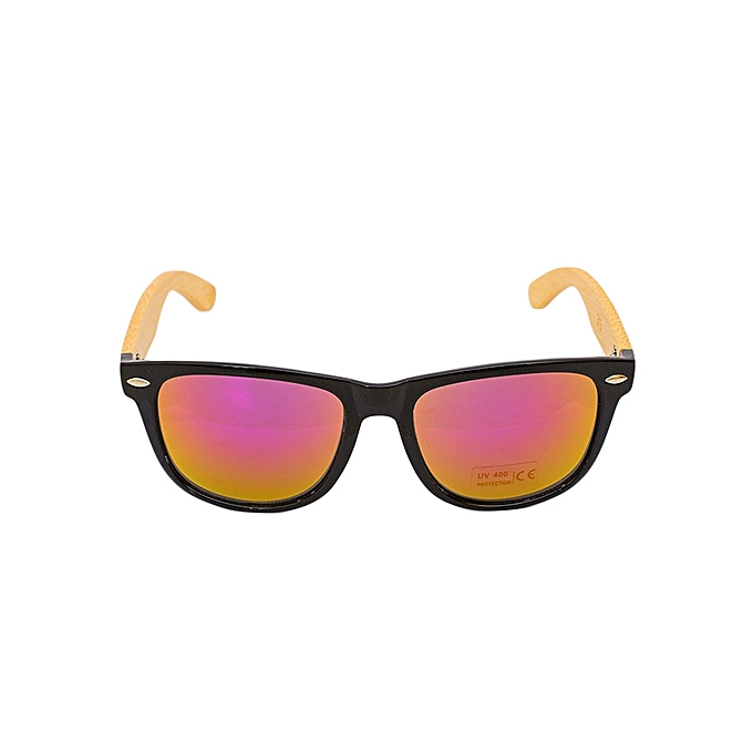 Buy Generic Sunglasses With Black Frames And Pink Red Orange Lens