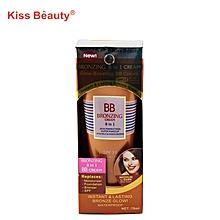 8 in 1 dark skin tone BB moisture care vitamin E bronze foundation cream, 70ML -03