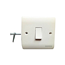 Wall Switch Panel One Switch Single Control 250V 10A-White