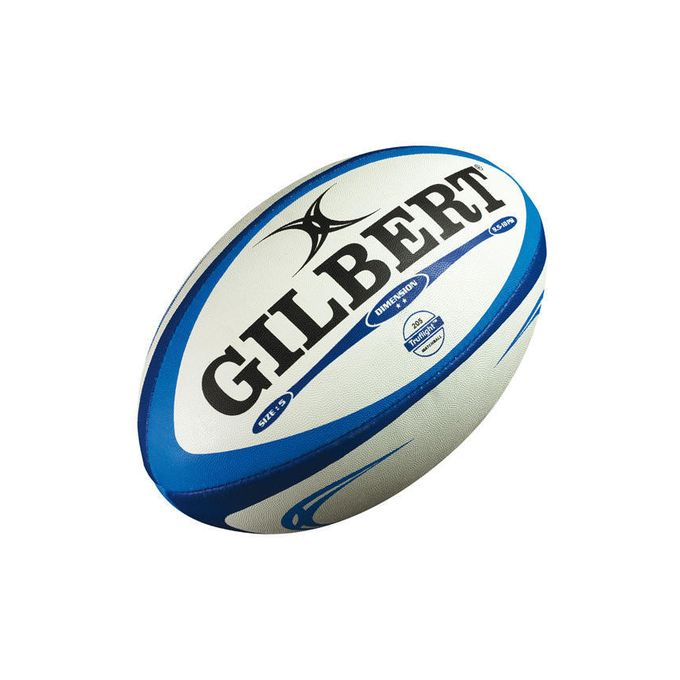 Gilbert Dimension Rugby Ball - Size 5 - White & Blue