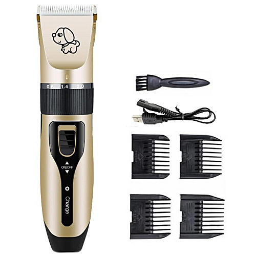 Rechargeable Low,noise Pet Hair Clipper Remover Cutter Grooming Cat Dog  Hair Trimmer Electrical Pets Hair Cut Machine USB Charge(Standard)