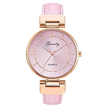 GAIETY G448 Women's Large Dial Leather Watch