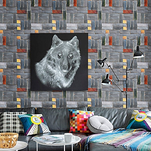 Buy Generic Simulation Brick Background Wall Decoration Removable ...