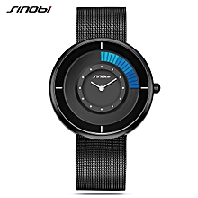 9703 Simple Men Watch Stainless Steel Strap Quartz Movement Watch Waterproof Casual Clock Wristwatch for Male