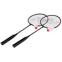 Badminton Racket Set -2-Player  +   2 shuttlecock