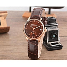 brand female minimalist style calendar clock watch new ladies leather quartz watches women small independent dial watch