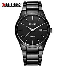 Luxury Brand Men Stainless Steel Business Quartz Watch