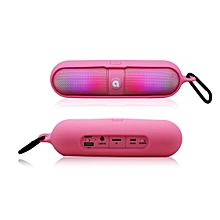 Bluetooth Wireless Super Bass Stereo Speaker For Tablet Smartphone -Pink
