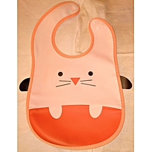 Water Proof Soft Washable Baby Feeder With Food Catcher - Pink