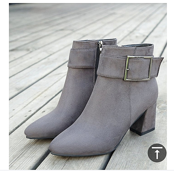 Generic Ladies Ankle Chunky Boots Heels (2 inches) @ Best ...