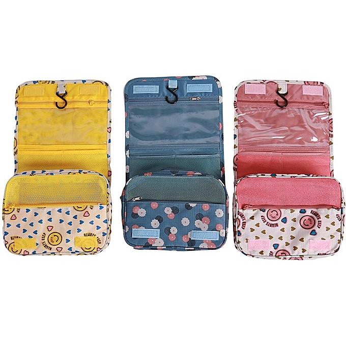 bd7046c0ffb2 Women Cosmetic Bag Organizer Fashion Makeup Bag Portable Folding  Multifunction Wash Bag Large Capacity Hanging Type Make Up Bag(Blue)