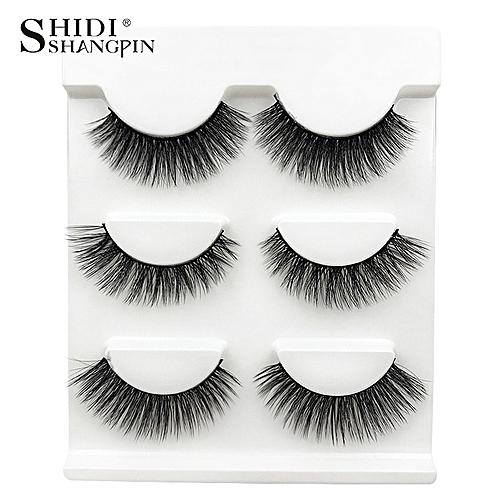 98940552ffd Generic New 3 pairs natural false eyelashes fake lashes long makeup 3d mink  lashes extension eyemink eyelashes for beauty #X11(X21)