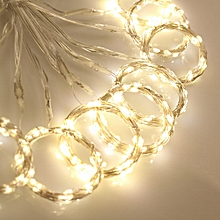 300LED Curtain Light Battery Christmas Fairy String Light with 13Key IR Remote Controller Blue White
