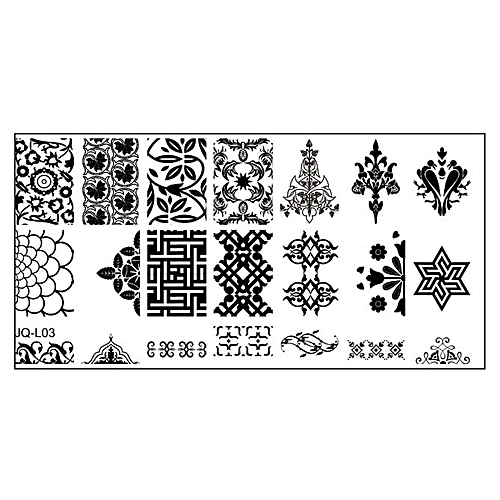 Buy Zlime 612cm Stainless Steel Nail Art Stamping Plates Geometric