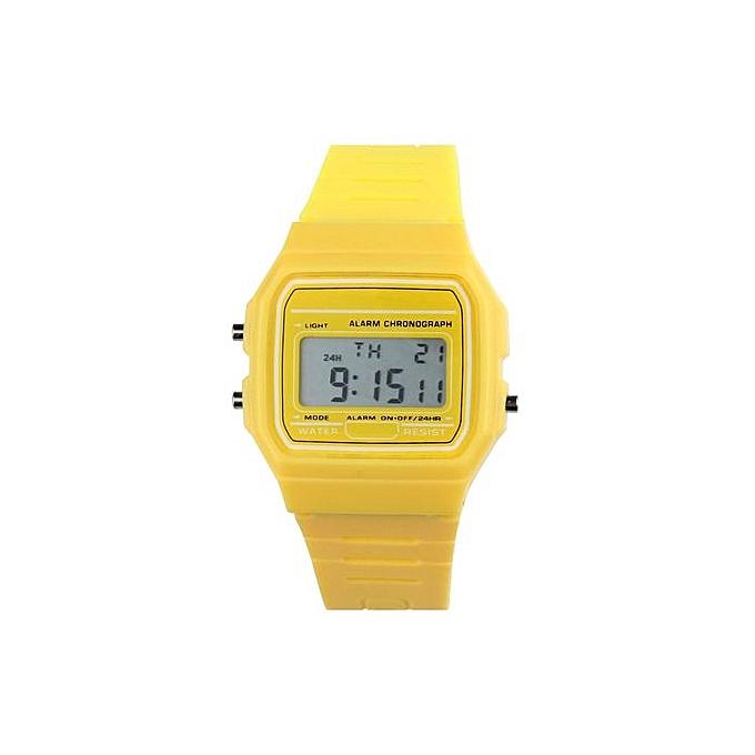 d816aeb6a820 New Silicone Rubber Strap Retro Vintage Digital Watch Boys Girls Mens YL.