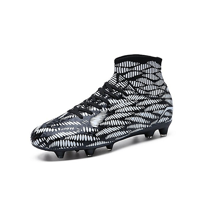 sale retailer 99c61 6f9da Generic Men s Youth High Ankle Soccer Cleats High Top Turf Soccer Shoes  Football Cleats Football Shoes Indoor Boys Football Boots Sneakers Spikes -  Black