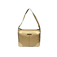 PU Comfy Handbag - Gold