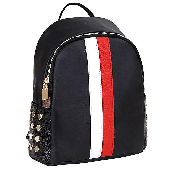 huskspo Women Girls Preppy Rivet Shoulder Bookbags School Travel Backpack  Bag 3b7c499a8999e