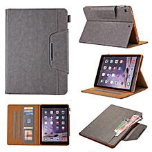 Case Cover Casing for New iPad 9.7 Inch 2018 Case Pure Color Leather Drop Protection Tablet Cover with Folding Stand and Cards Holder Mll-S