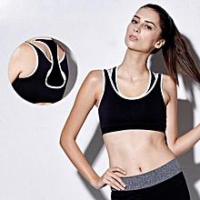 Women Sport Gym Yoga Workout Bra Running Padded Fitness Tops Vest Hot BK S-S