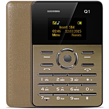Q1 Ultra-thin Card Phone Player Sound Recorder Alarm-GOLDEN