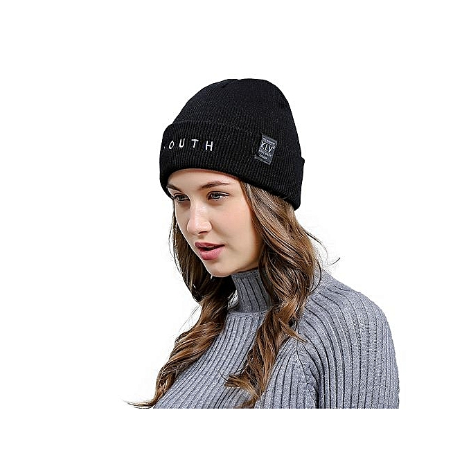 Eissely Letter Embroidered Men Women Baggy Wool Knit Ski Beanie Hat ... 0ab76334309