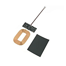 Universal QI Wireless Charger Receiver Module Wireless Charging Receiving PCBA Board - Black