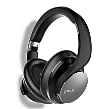 Pace Focus-Wireless headphone, 35 hours of battery, Lightweight & comfortable Black