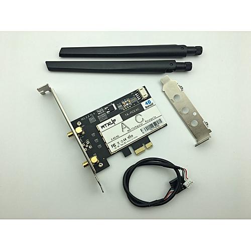 PCIE 7260AC 2 4G / 5G Dual Band Desktop 7260NGW Not 7260HMW 867Mbps  Wireless PCI-E Wi-Fi Bluetooth 4 0 WIFI CARD AC-7260 WLAN(7260ac wifi  adapter)