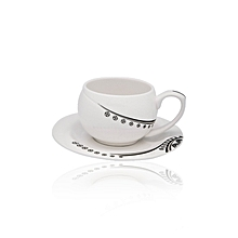RF4310- 6/6 Cup & Saucer- Bone China- White