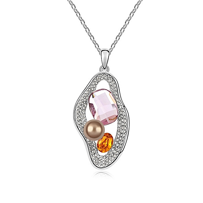 c9b038d42c96a Adopt the Swarovski chemical element crystal decoration-garden pea  princess' vogue small delightfully fresh necklace