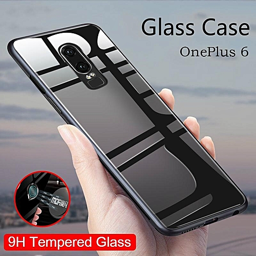 low priced 823d7 efa64 Glass Case For OnePlus 6 Case HD Clear Full Protection Tempered Glass Back  Cover For Oneplus6 Housing Shell