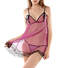 Fashion Sheer Lingerie Cute Sexy Nightgown Thong Underwear Temptation