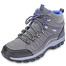 Men Fashion Patchwork Breathable Skid-resistant Hiking Shoes - DARK GRAY
