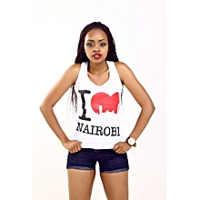 White Fashionable Nairobi Love Standard Tank Top