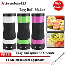 【Free Gift】Electric Eggroll Maker Egg Roll Machine Automatic Omelette Sausage Frying Cooking Tools Cup Pink