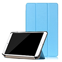 "For Huawei 2016 M3 8.0 Case, Ultra Slim Case + PU Leather Smart Cover Stand Auto Sleep/Wake For 8.4"" Mediapad BTV-W09/BTV-DL09, Sky Blue"
