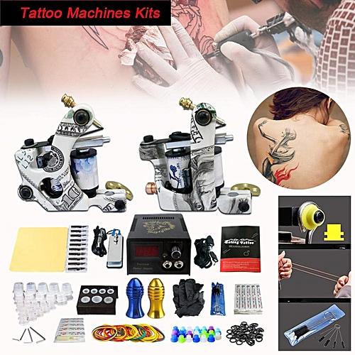 Generic Complete Tattoo Kit 2 Professional Machine Gun Power Supply