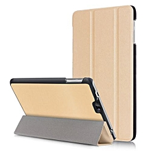 "For Dragon Touch S8 Case, Ultra Slim Hard Case + PU Leather Smart Cover Stand For Dragon 7.0"" Tablet Touch S8, Gold"