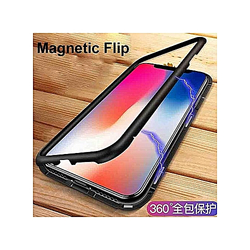 classic fit dda6a b037b HOT Magnetic Adsorption Metal Case For For Iphone 7/ 8 Case Metallic Frame  Tempered Glass Cover For Iphone 7 / 8 Clear F