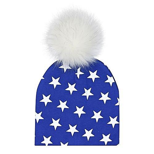 c73f4cc2380 Buy Eissely Newborn Infant Baby Winter Print Warm Faux Fur Ball Hat ...
