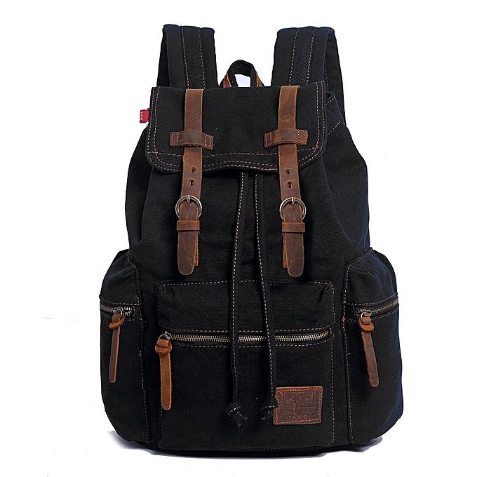 f874e2f98e Generic Fashion Men s Backpack Vintage Canvas Men s Travel Bags ...