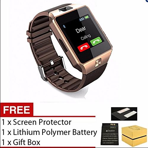 Generic Smart Watch Dz09 With Bluetooth Support Sim Card