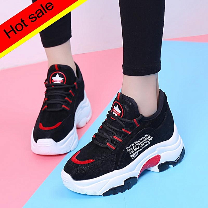save off 65be1 aa9e2 New Women's Outdoor Leisure Increased Fashion Sports Shoes Ladies Shoes  Wear-resistant Anti-slip