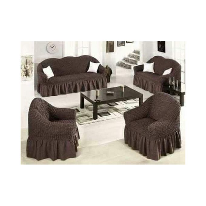 Home Deca Sofa Seat Covers One Size Fits All Chocolate Brown