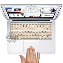 """13"""" Air Skin, EURO Type German Silicone Keyboard Cover For 2008-2015 Macbook 13.3"""" 15"""" Pro Reitna/Imac G6, Gold"""