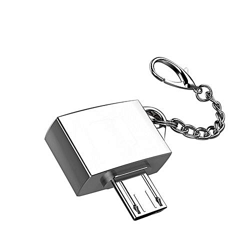 OTG Converter Adapter With Keychain Metal Micro USB Male To USB 2.0 A Female